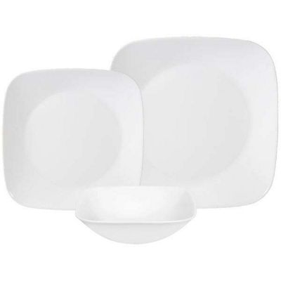 Corelle Square 18 Piece Dinnerware Set in Pure White