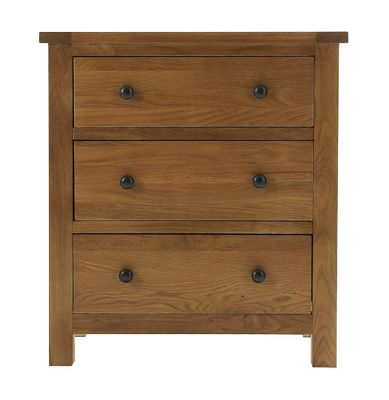 Thorndon Eden 2 Over 3 Drawer Chest in Warm Oak