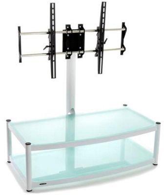 New Atacama Cantilever 2 Shelf TV Stand - White
