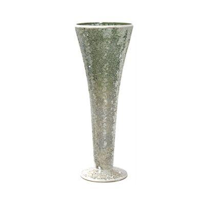 Duck Egg Sparkle Mosaic Trumpet Vase