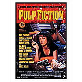 Pulp Fiction Gloss Black Framed Movie One Sheet Poster