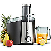 VonShef Premium Electric Juicer 800W - Whole Fruit & Vegetable Centrifugal Juice Extractor
