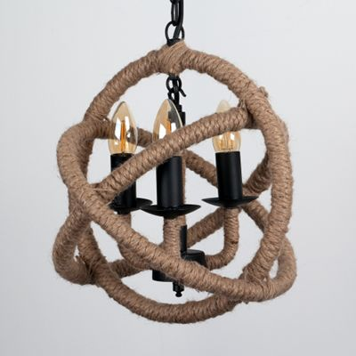 Sisal 3 Way Rope Knot Chandelier