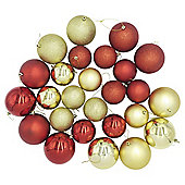 Large Coloured Christmas Baubles, 26 pack