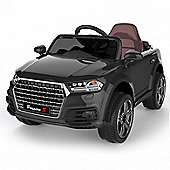 Audi Q7 Style Ride on Car 12v Black with Parental Remote Control