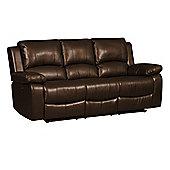 Jordan Three Seater Recliner Sofa Brown