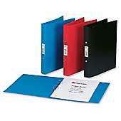 Rexel Budget Ring Binder Semi-rigid Polypropylene 2 O-Ring 25mm Size [Pack 10]
