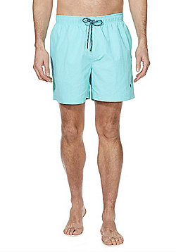 F&F Plain Quick Dry Swim Shorts - Aqua Blue