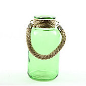 Glass Milk Jar - 20cm - Green