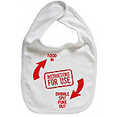 Dirty Fingers Instructions for use Baby Bib White