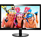 Philips 246V5LHAB 24 Full HD LED LCD Monitor 246V5LHAB/00 Resolution 1920 x 1080 Full HD. Contrast Ratio 1000:1 5ms Response Time Aspect Ratio 16:9
