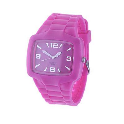 Urban Male Pink Rubber Wrist Watch Quartz Movement