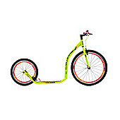 Crussis Urban 4.4 26/20in Wheel Adults Kick Scooter Neon Yellow