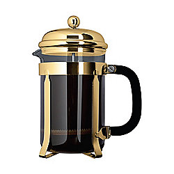Cafe Ole 1500ml 12-Cup Classic Coffee Maker Glass Cafetiere Gold Finish