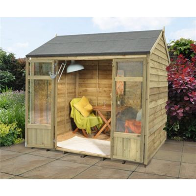 8 x 6 Rock Winchcombe Summerhouse - Assembled Garden Wooden Summerhouse 8ft x 6ft (2.44m x 1.83m)