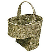 Woodluv Seagrass Stair Basket Basket With Handle-Large
