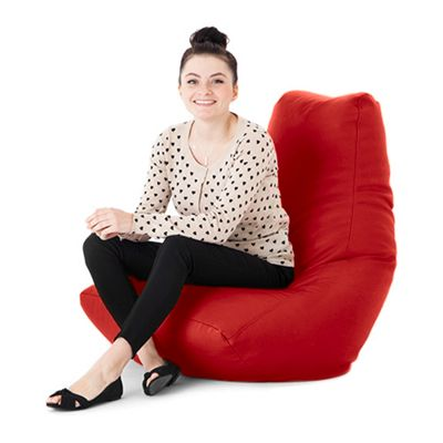 Red Faux Leather Bean Bag Gaming Chair