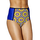 South Beach Mixed Print High Waisted Bikini Briefs - Multi
