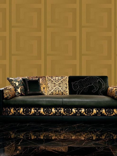 Versace Greek Key Wallpaper 10m x 70cm Gold 93523-2