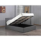 Ottoman Gaslift Storage Grey Fabric Kingsize Bed Frame