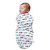 Clevamama 0-3 Months Blue Baby Infant Swaddle to Sleep