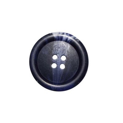 Hemline Four Hole Blue and Grey Buttons 15mm 10pk