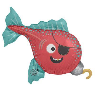 Pirate Fish Balloon - 43 inch Foil