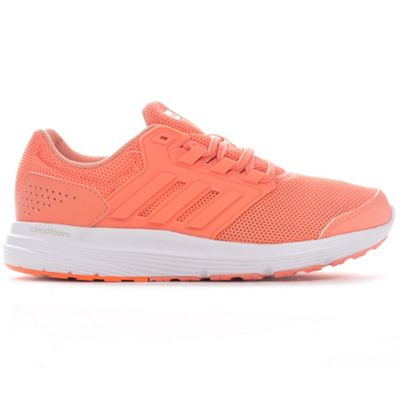 adidas Galaxy 4 Womens Ladies Running Trainer Shoe Coral - UK 4