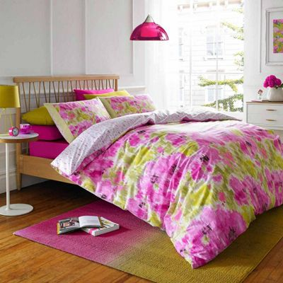 Blueprint 'Havana' Green and Pink Floral Quilt Cover Set, Single