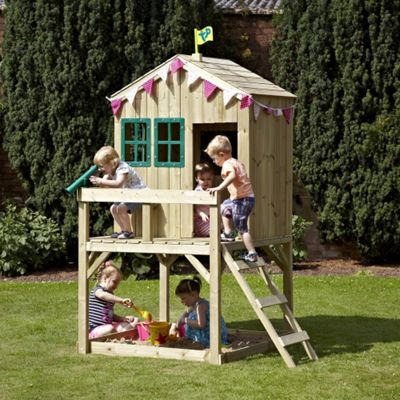 TP Forest Wooden Cottage Playhouse