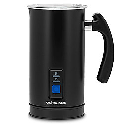 Andrew James Electric Dual Milk Frother and Warmer in Black - 500W