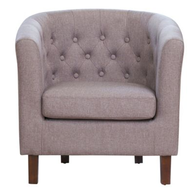 Sofa Collection Landes Fabric Tub Chair - Medium Grey