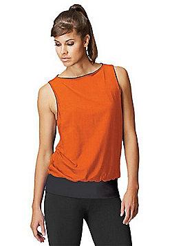 Reversible Gym Vest - Black & Neon orange