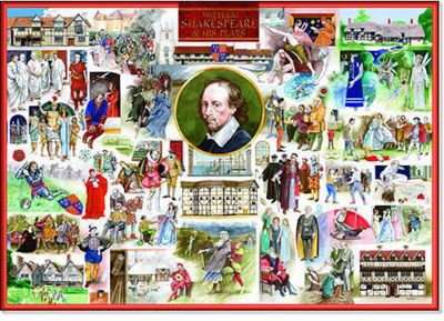 William Shakespeare & His Plays Puzzle