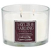 Baylis & Harding Fig & Pomegranate Scented 3 Wick Candle