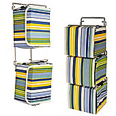 Stripe - Contemporary Wall Mounted Canvas 33 Cd Storage Boxes