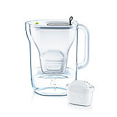 BRITA Style Water Filter Jug and Cartridge, Soft Grey