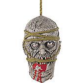 Zombie Hanging Head Halloween Party Prop - 33cm