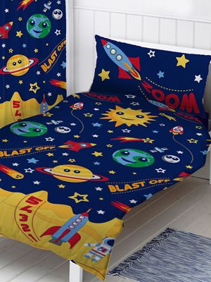 Space Single Duvet Cover And Pillowcase Set