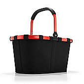 Reisenthel Foldable Carry Shopping Bag in Black with Red Frame BK7039