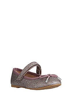 F&F Glitter Mary Jane Ballerina Pumps - Purple