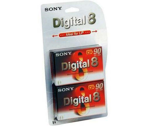 Sony Digital 8 Camcorder Tape 2 Pack