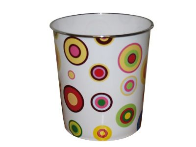 JVL 15-117 Waste Paper Bin Circles