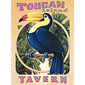 Mike Patrick Toucan Island Tavern Tin Sign