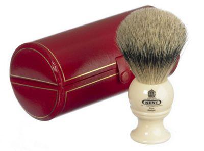 Kent BK4 Silver Tip Badger Shaving Brush (White)