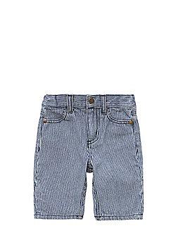 Pumpkin Patch Striped Shorts - Blue & White