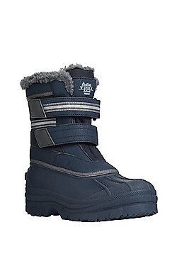 F&F Fleece Lined Snow Boots - Navy
