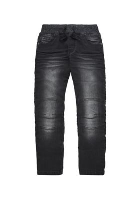 F&F Rib Waist Jeans 12-13 years Washed black