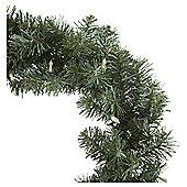 Pre-lit Traditional Christmas Wreath, 45cm (20 warm white LEDs)