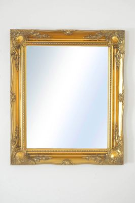 Large Gold Antique Style Design Wall Mirror Wood Rectangle 26 X 22